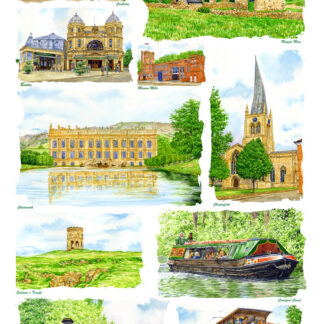 Derbyshire Tea Towels