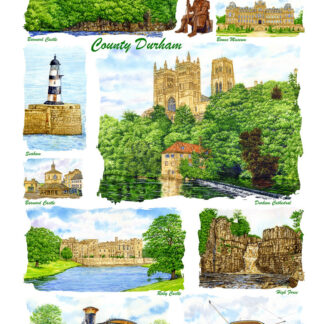 County Durham Tea Towels.
